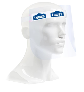 Plastic Face Shield with Brow Pad